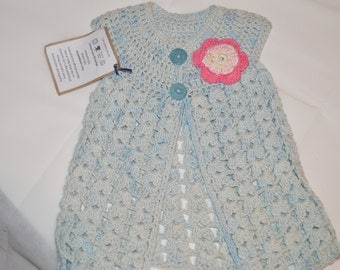 1 -2 Years Old Girls' Light Blue Cardigan