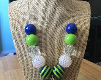 Seahawks bead necklace! Free shipping!
