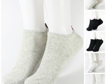 Men's Low Cut Casual Mixed Cotton Comfortable Socks 3 Pairs