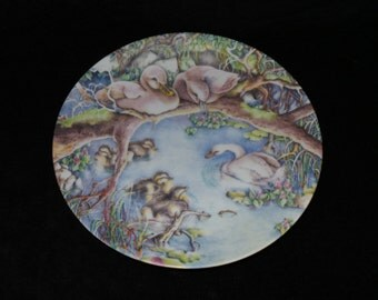 "1985 Grande Copenhagen Ugly Duckling ""He Will Grow Up Strong"" Collector Plate by Karen Jean Bornholt"