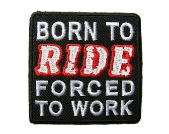 Biker Rider Embroidered Applique Iron on Patch 6.6 cm. x 6.7 cm.