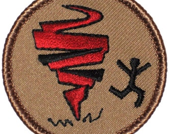 Tornado Patch (272) 2 Inch Diameter Embroidered Patch