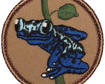 Poison Dart Frog Patch (509) 2 Inch Diameter Embroidered Patch