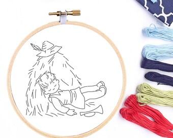 Hand Embroidery Design Hand Embroidery PDF Pattern Beginner Pattern Little Boy Blue  Hoop Pattern Hoop Art Nursery Rhyme PDF Pattern