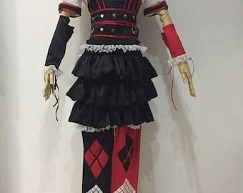 Arkham Asylum Harley Quinn Cosplay Costumes