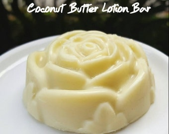 Flower Coconut Butter Solid Lotion Bars | Lavender or Naturally Scented