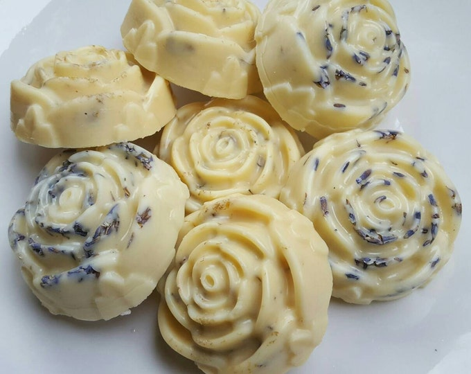 Lotion Bars | Lavender and Chamomile Solid Lotion Bars | Floral Bouquet of 7 Lotion Bars (Local Pickup Only)