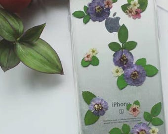 Pressed Real Flowers Bumper Phone Case with dust pluc -  i Phone / Samsung / HTC / Oppo