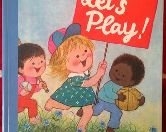 Let's Play! Gyo Fujikawa, vintage children's board book, 1975