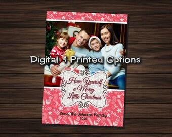 Merry Little Christmas 5x7 Photo Card