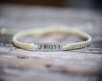 Stamped Metal Customizable Adjustable Bracelet