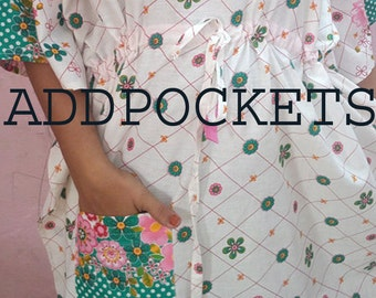 ADD POCKETS to robes/ caftans