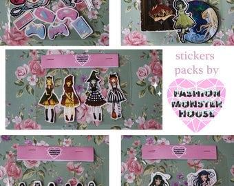 stickers lolita set