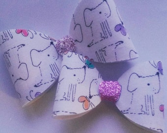 Puppy dog bow (medium)