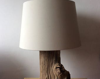 Reclaimed post table lamp