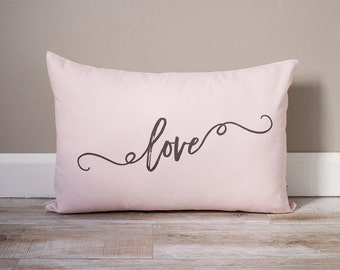 Love Pillow | Valentine's Day Gift For Wife | Monogrammed Valentine's Gift | Gifts For Her | Valentine's Day Gift for Husband | Wife Gift