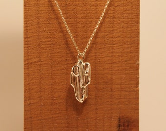 Ooak Small Sterling Silver Broomcast Pendant