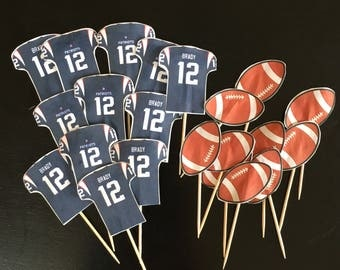 New England Patriots Tom Brady Jersey Cupcake Topper 20ct