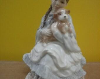 "Coalport ""Best Friends"" limited edition figurine.  nbr 748  height = 17cm"