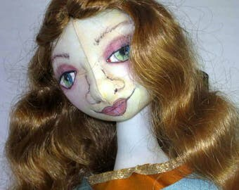Female Cloth Art Doll, Fantasy History Medieval Soft Sculpture