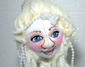 Cloth Art Doll Bust Sweet Soft Sculpture