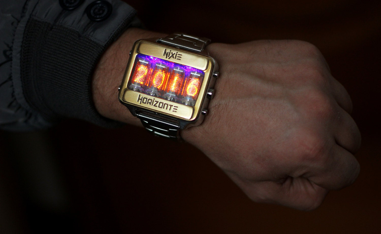 Nixie Tube Watch Clock Wrist Watch Self Made By Nixiehorizonte