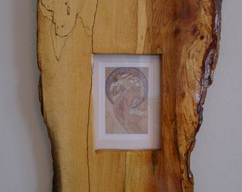 Solid Scottish spalted Oak Frame Water Nimph print (removable)