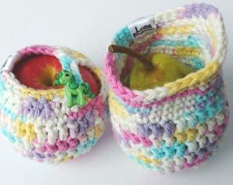 Apple cozy Fruit cozy Handmade Crochet - apple cosy - Lunch bag buddy- Pomme de Licorne
