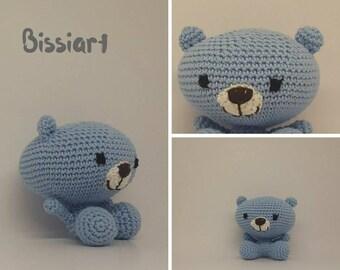 Crochet toy little bear, stuffed animal, handmade gift for babies and children