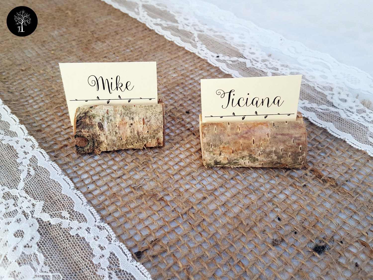 70 pieces wedding place card holder rustic wedding decor name card holder