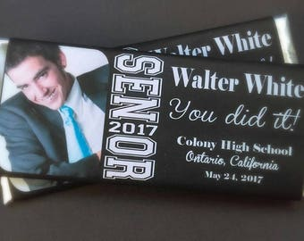 Class of 2017 Candy Bar Wrappers