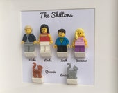 LEGO Family Customised Personalised Minifigures Frame Gift for Christmas, Birthdays, Weddings, Anniversaries
