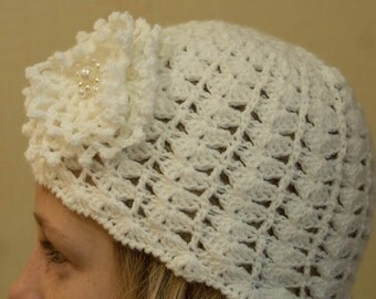 a white spring hat