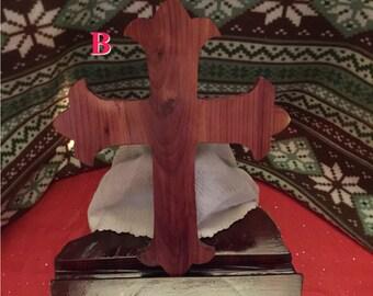 Decorative cross, cedar cross, curved cross