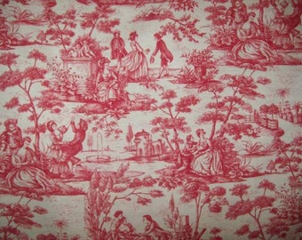 Vintage fabric or vintage French toile de Jouy print