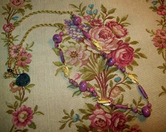 A pretty vintage Necklace (60s) J.SABBAGH. PARIS, fashion, sewing