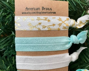 Light blue arrow hair elastics