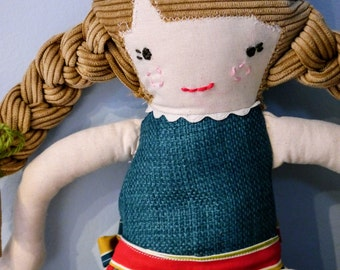 Penelope Doll, doll, plush doll, vintage inspired doll