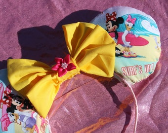 Surf's up Minnie & Daisy Spring/summer ears!