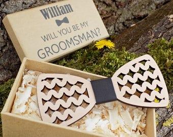Wood Bow Ties, Groomsmen Bow Ties, Wedding Bow Ties, Men's Bow Ties, Wood Bow Ties for Men, Groomsmen Gifts, Groomsman Gift, Best Man Gift