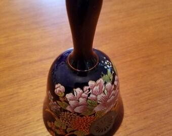 Vintage Cobali blue floral bell