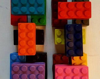 Lego Crayons - 4 pack - Birthday Gift - Coloring - Party Favors - Kids Party