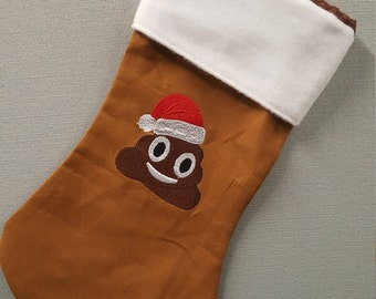Adorable Handmade Christmas Poop Stocking