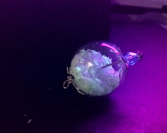 phosphorescent Crystal Ball pendant
