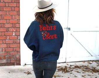 The 'Be Fehr' Jacket. Vintage 1930's  Fehr's Jacket Coat Vintage Brewery Frank Fehr It's Always Fehr Weather