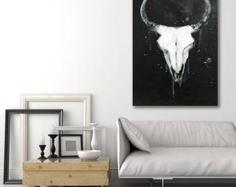 Made to order cow skull