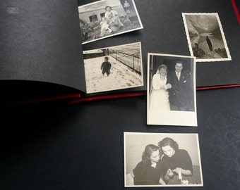 Old photo album with pictures lot