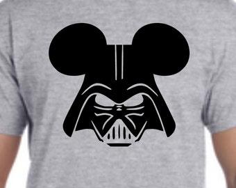 Mens Disney Shirt, Unisex Disney shirt, Custom Disney Shirt, Darth Vader Mouse Shirt, Darth Vader Shirt, Star Wars Shirt