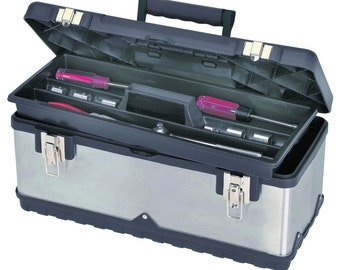 "20"" Toolbox Tool Storage Organizer Stainless Steel Portable"