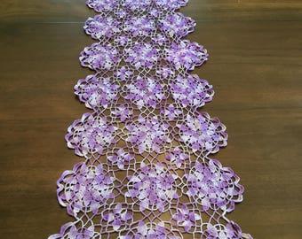 Lavender table runner.